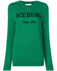 Iceberg - Contrast Logo Jumper - Lyst