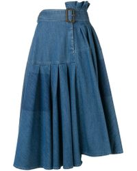 3e18ebcbb JW Anderson - Asymmetric Denim Skirt - Lyst