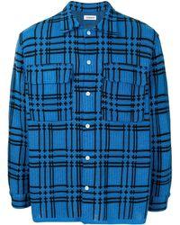 Coohem Checked Knit Shirt - Blue