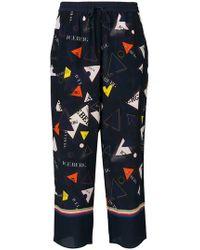 Iceberg - Triangle Motifs Print Loose Trousers - Lyst