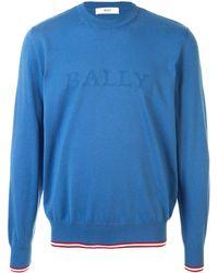 Bally ストライプトリム プルオーバー - ブルー