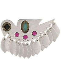 Isabel Marant Birdy Studs Brooch - Metallic