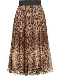 Dolce & Gabbana - レオパード スカート - Lyst