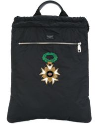 Dolce & Gabbana Patch Backpack - Zwart