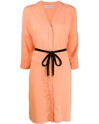 Blanca Vita ウエストタイ ドレス - オレンジ