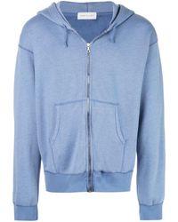 John Elliott Hooded zip-up jacket - Bleu