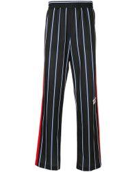 MSGM Striped track pants - Blu