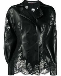Ermanno Scervino Lace-insert Riding Jacket - Black