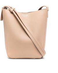 Emporio Armani Tonal Double-strap Bucket Bag - Natural