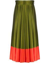 MSGM プリーツスカート - グリーン