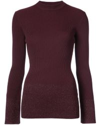 Nomia - Mock Neck Ribbed Knit - Lyst
