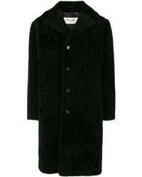 Saint Laurent Shearling Coat - Black