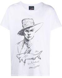 Greg Lauren プリント Tシャツ - ホワイト