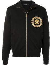 Versace Кошелек На Молнии С Вышитым Логотипом - Черный