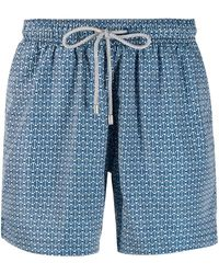 BLUEMINT - Peacot Printed Swim Shorts - Lyst