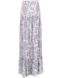 Martha Medeiros Paris Printed Skirt - Многоцветный