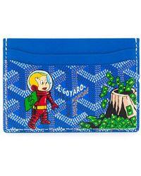 Goyard Cartoon Print Cardholder - Blue