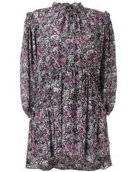 Isabel Marant - Paisley Ruffle Georgian Dress - Lyst