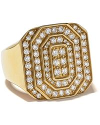 Tom Wood Ring Met Diamant - Metallic
