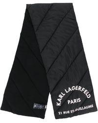 Karl Lagerfeld - ロゴ パデッドスカーフ - Lyst