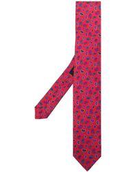 Etro Micro Paisley-print Silk Tie - Red