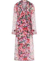 Dolce & Gabbana - Gabardina con estampado floral - Lyst