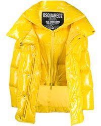 DSquared² オーバーサイズ パデッドジャケット - イエロー