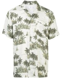 Onia 'Hawaiian Landscape Vacation' Hemd - Weiß