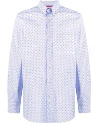 Paul & Shark Рубашка На Пуговицах С Принтом - Синий