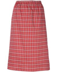 Ports 1961 - Checked Pencil Skirt - Lyst