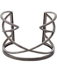 Joelle Jewellery - Geometric Diamond Cuff - Lyst