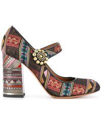 Etro - Jacquard Mary Jane Court Shoes - Lyst