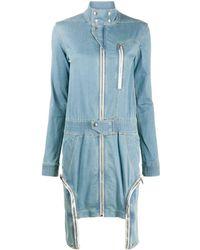 Rick Owens Drkshdw Tecuatl Denim Mini Dress - Blue