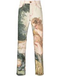 Vivienne Westwood Boucher-print Straight-leg Jeans - Multicolour