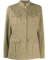 Polo Ralph Lauren Mandarin Collar Military Jacket - Multicolor