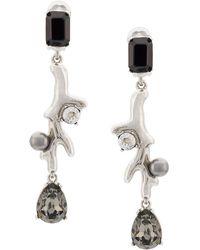 Oscar de la Renta - Coral Crystal Earrings - Lyst
