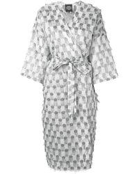 Katya Dobryakova - Textured Wrap Dress - Lyst