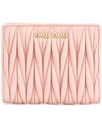 Miu Miu 二つ折り財布 - ピンク