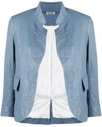 Zadig & Voltaire オープンフロント ジャケット - ブルー