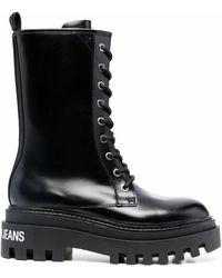 Calvin Klein Platform Mid Lace-up Boots - Black