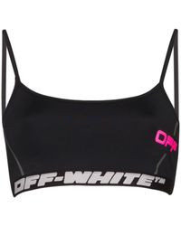Off-White c/o Virgil Abloh Logo Print Sports Bra - Black