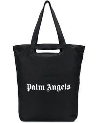 Palm Angels Logo-print Tote Bag - Black