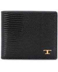 Tod's Lizard Skin-effect Wallet - Black