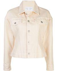 PROENZA SCHOULER WHITE LABEL Cinched Denim Jacket - White