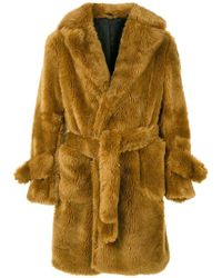 Band of Outsiders - Oversized Faux Fur Coat - Lyst