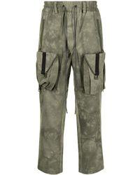 Mostly Heard Rarely Seen Pantalon cargo Zipoff - Vert