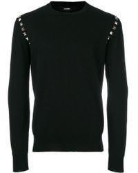 Les Hommes スタッズ セーター - ブラック