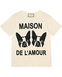 "Gucci - ""maison De L'amour"" T-shirt With Bosco And Orso - Lyst"