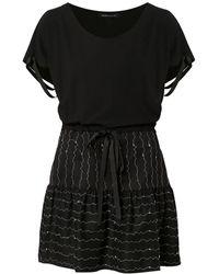 Gloria Coelho Short flared dress - Noir