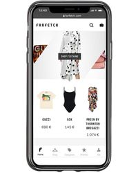Prada Funda para iPhone X con logo - Negro